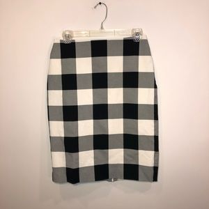 Talbots Buffalo Plaid Pencil Skirt